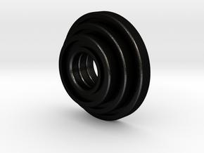 Triple Plate in Matte Black Steel