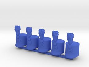 5 x Austrian Hussar in Blue Processed Versatile Plastic
