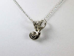 Ear Charm, Cochlea & Canals Pendant in Polished Silver