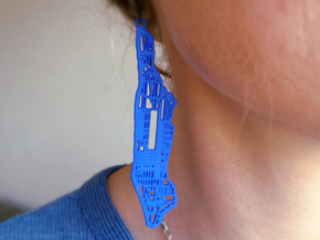 New York City earrings in Blue Processed Versatile Plastic