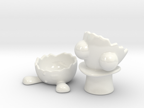 Mr. Egg-Cup in Gloss White Porcelain