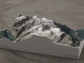 Mont Blanc, France/Italy, 1:100000 Explorer in Full Color Sandstone