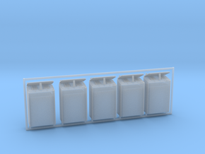 1/72 DKM Skylight Open Lid Set x5 in Smooth Fine Detail Plastic