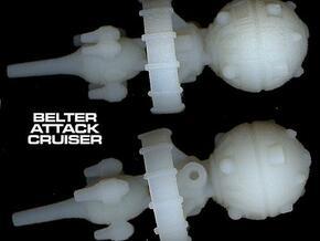 Belter Attack Cruiser v2 in White Acrylic