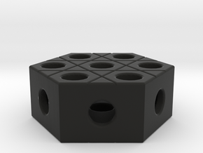 Playful Memories - Double Sided Hexagon 2 in Black Natural Versatile Plastic