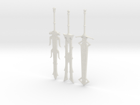"""BotW"" Elemental Great Blades Set in White Natural Versatile Plastic: 1:12"