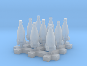 Rocket Bottle 1:24 75mm Scale 20cm 9pcs in Frosted Extreme Detail
