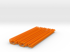 Chain Segment 1 in Orange Processed Versatile Plastic: Small