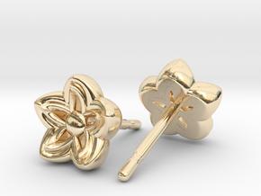 Kanzashi Earrings in 14K Yellow Gold
