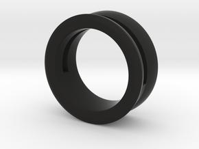 Modern+Offset Ring in Black Strong & Flexible: 6 / 51.5