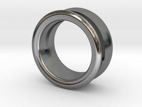 Modern+Offset Ring in Polished Silver: 6 / 51.5