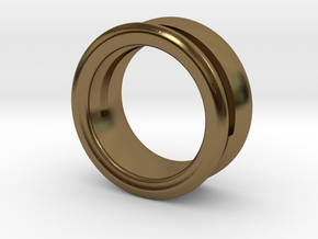 Modern+Offset Ring in Polished Bronze: 6 / 51.5