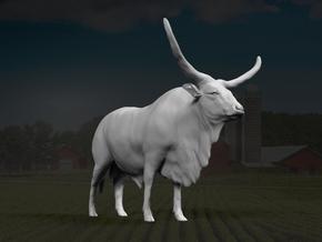 Ankole-Watusi 1:16 Standing Male in White Strong & Flexible