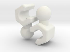 4mm grip Hand Set for ModiBot  in White Natural Versatile Plastic