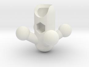 4 Leg Sectivore Hip for ModiBot in White Natural Versatile Plastic