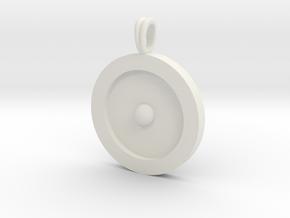 Circumpunct Dot Circle symbolic Jewelry Pendant in Aluminum