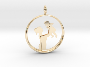 Mother & Daughter Pendant 1 -Motherhood Collection in 14K Yellow Gold