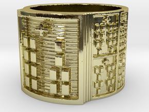 IROSOYEKUN Ring Size 14 in 18k Gold Plated Brass