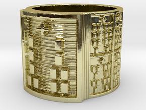 IROSOGUNDA Ring Size 11-13 in 18k Gold Plated Brass: 12 / 66.5