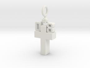 Custom Pendant in White Natural Versatile Plastic