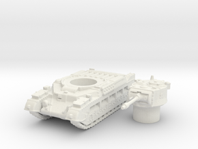 Matilda II tank (British) 1/144 in White Natural Versatile Plastic