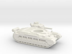 Matilda II with Fuel tank (British) 1/200 in White Natural Versatile Plastic