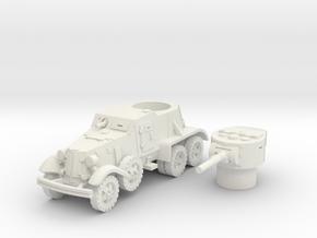 BA 36 with wheels (Soviet) 1/100 in White Natural Versatile Plastic