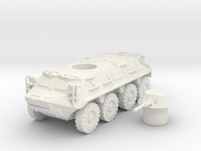 BTR- 60 vehicle (Russian) 1/100 in White Natural Versatile Plastic