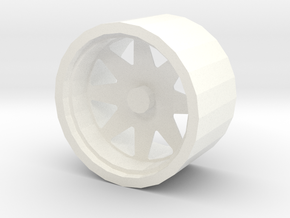 Rim Low Poly in White Processed Versatile Plastic: 1:10