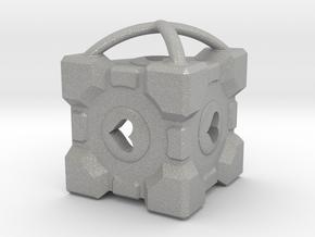 Companion Cube Neckless  in Raw Aluminum