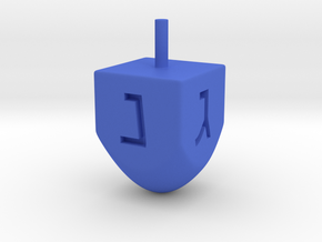 Dreidel  in Blue Processed Versatile Plastic