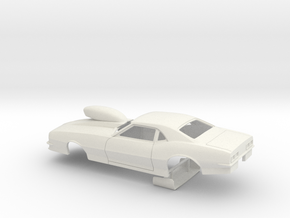 1/25 Pro Mod 68 Camaro W Scoop Small Wheel Well in White Strong & Flexible