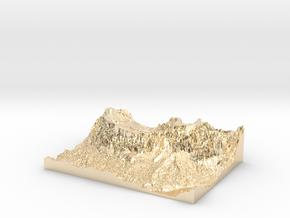 "MyTinyDolomites ""Sasso Croce"" - Alta Badia (Italy) in 14k Gold Plated Brass"