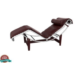 Miniature LC4 Chaise Lounge - Le Corbusier in White Strong & Flexible