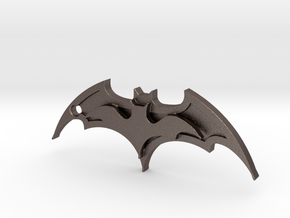 Batman Keychain in Polished Bronzed Silver Steel