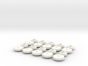 GEAR 18T 24T SEAT BELT EXTENDER W126 124 140 SET in White Processed Versatile Plastic