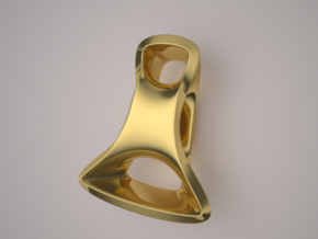 Triple Cube Gold 097 in 14K Yellow Gold