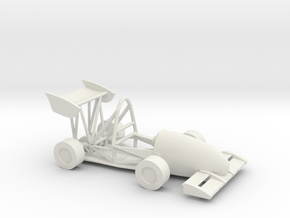 CMU Racing 16e Electric Race Car in White Natural Versatile Plastic