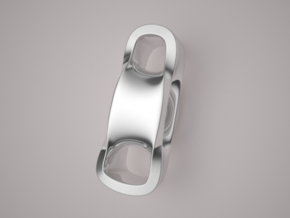 Triple Cube Silver 099 in Polished Silver