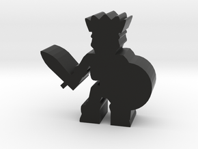 Game Piece, Skeleton King in Black Natural Versatile Plastic