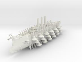 Trireme Airship Grugnula in White Natural Versatile Plastic: 1:700