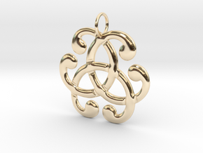 Health Harmony Therapy Celtic Knot in 14k Gold Plated Brass: Medium