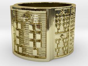 OKANAWORI Ring Size 14 in 18k Gold Plated Brass