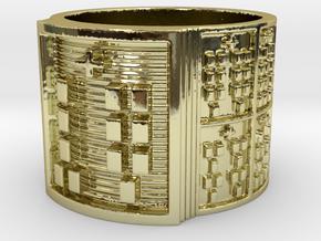 OKANAOGUNDA Ring Size 14 in 18k Gold Plated Brass