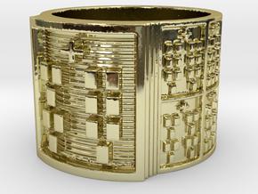 OKANAFUN Ring Size 14 in 18k Gold Plated Brass