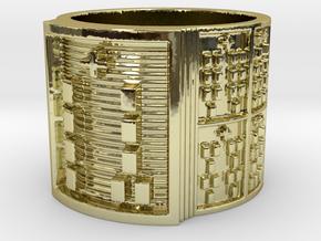 OGUNDABIODDE Ring Size 11-13 in 18k Gold Plated: 12 / 66.5