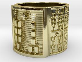 OGUNDAKANA Ring Size 11-13 in 18k Gold Plated: 12 / 66.5