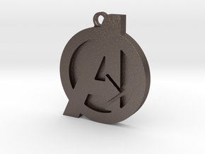 Avenger Keychain in Polished Bronzed Silver Steel