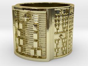 OGUNDAFUN Ring Size 11-13 in 18k Gold Plated: 12 / 66.5