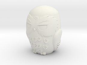 Owl in White Natural Versatile Plastic